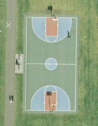 Kent Rotary Basketball Court aerial view