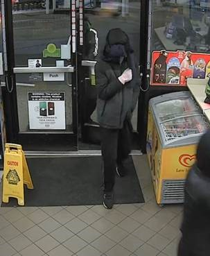 Suspect 3 in two armed robberies that occurred in Kent in the early morning hours of Dec. 3, 2018.