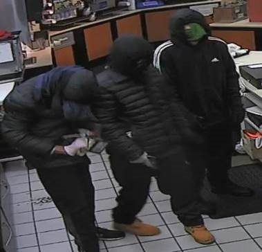 Suspects in two armed robberies that occurred in Kent in the early morning hours of Dec. 3, 2018.