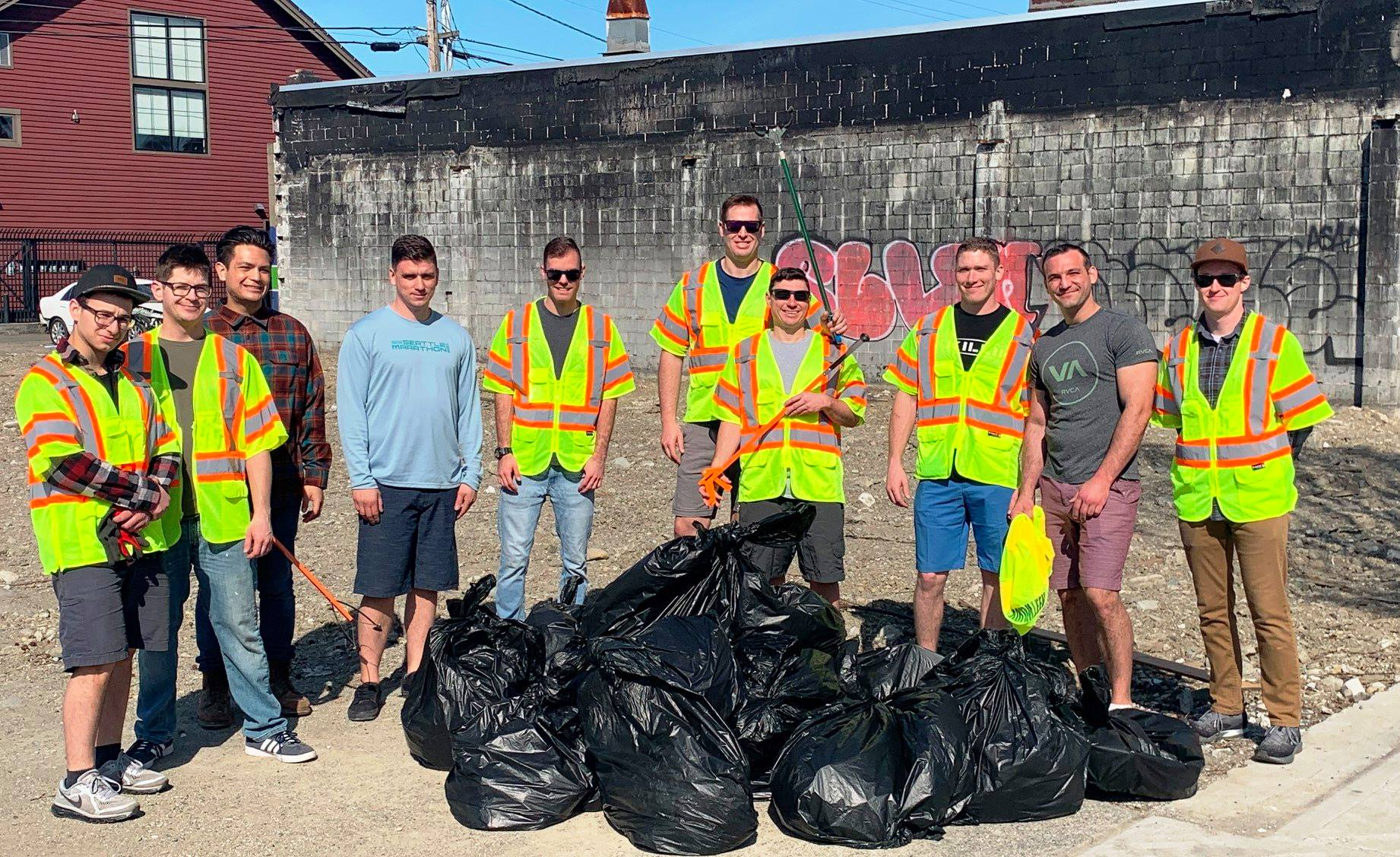 Adopt-a-Street volunteers help keep our City clean.