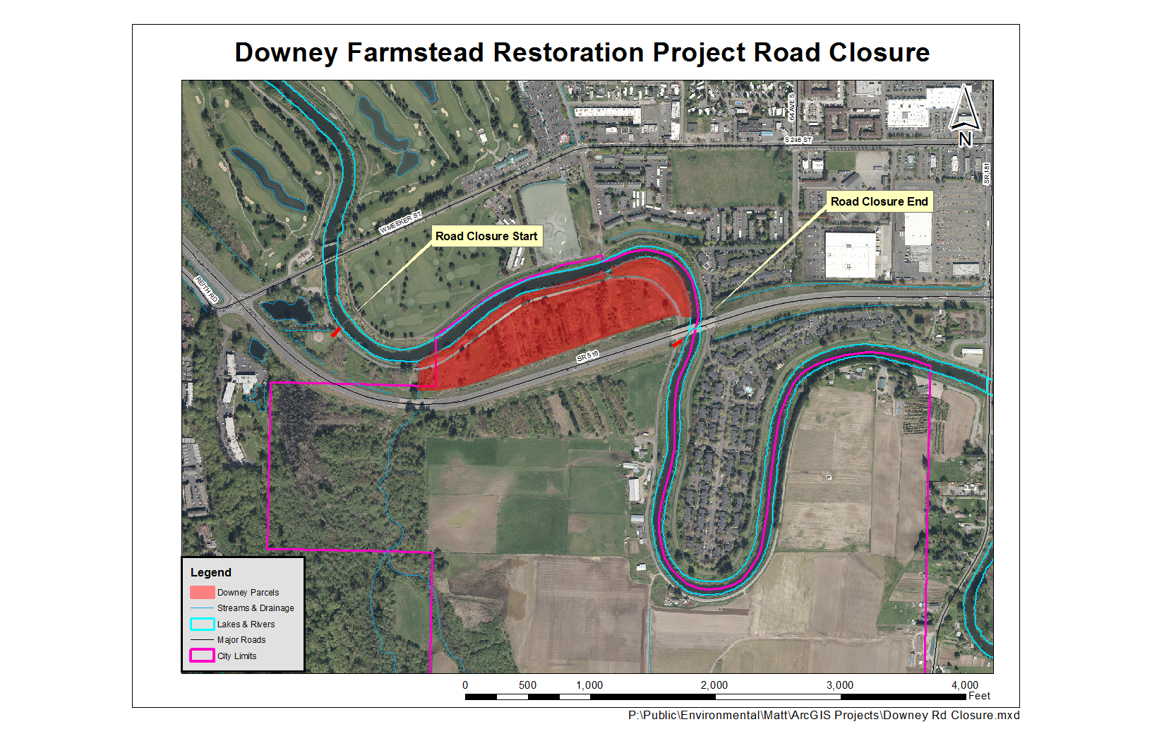 Downey Farmstead Frager Road Closure