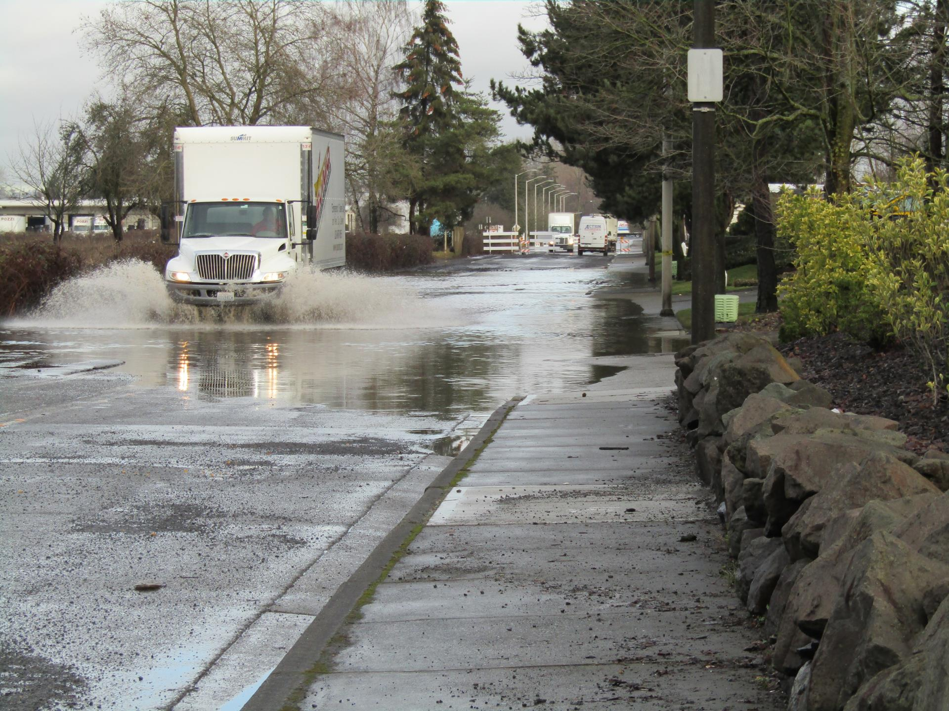Water over roadway (76th at 212th)