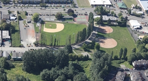 Kent Memorial Park baseball fields aerial view