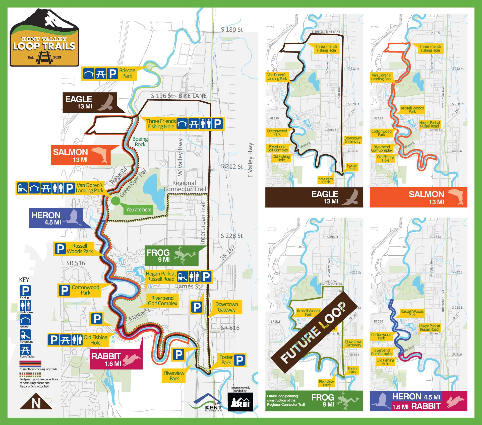 Map Of Kent Wa Kent Valley Loop Trails   Parks Without Map   City of Kent