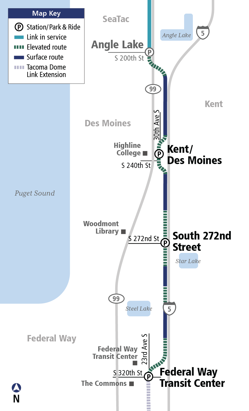 SoundTransit_federal-way-link-stations-map