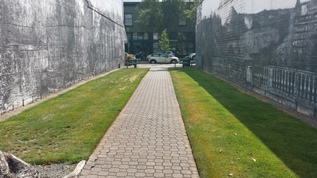 First Ave Plaza paver path
