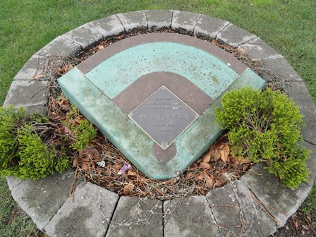 Kent Memorial Park Art Wright Field Memorial Plaque