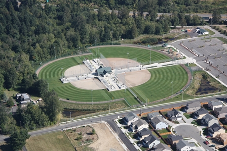 Service Club Ballfields aerial view