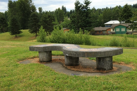 Springwood bench on knoll